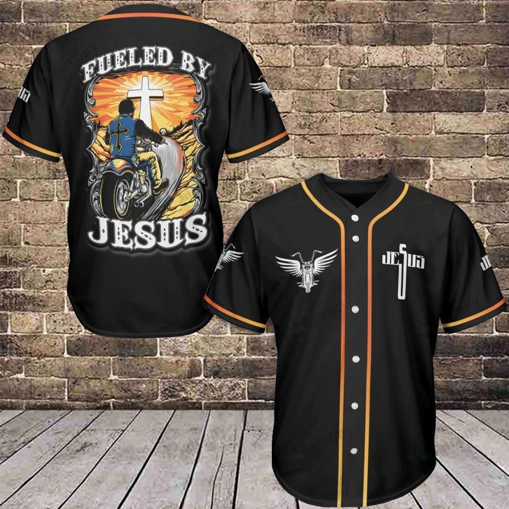 Jesus Fueled by Jesus Baseball Jersey shirt