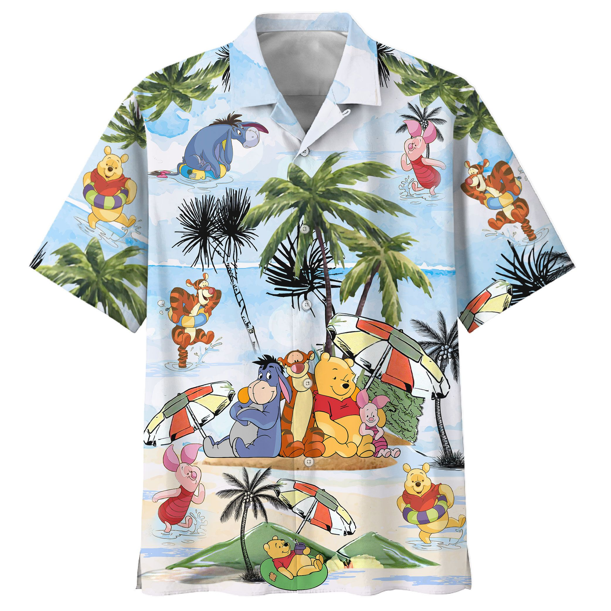 Winnie The Pooh Summer Time Hawaiian Shirt