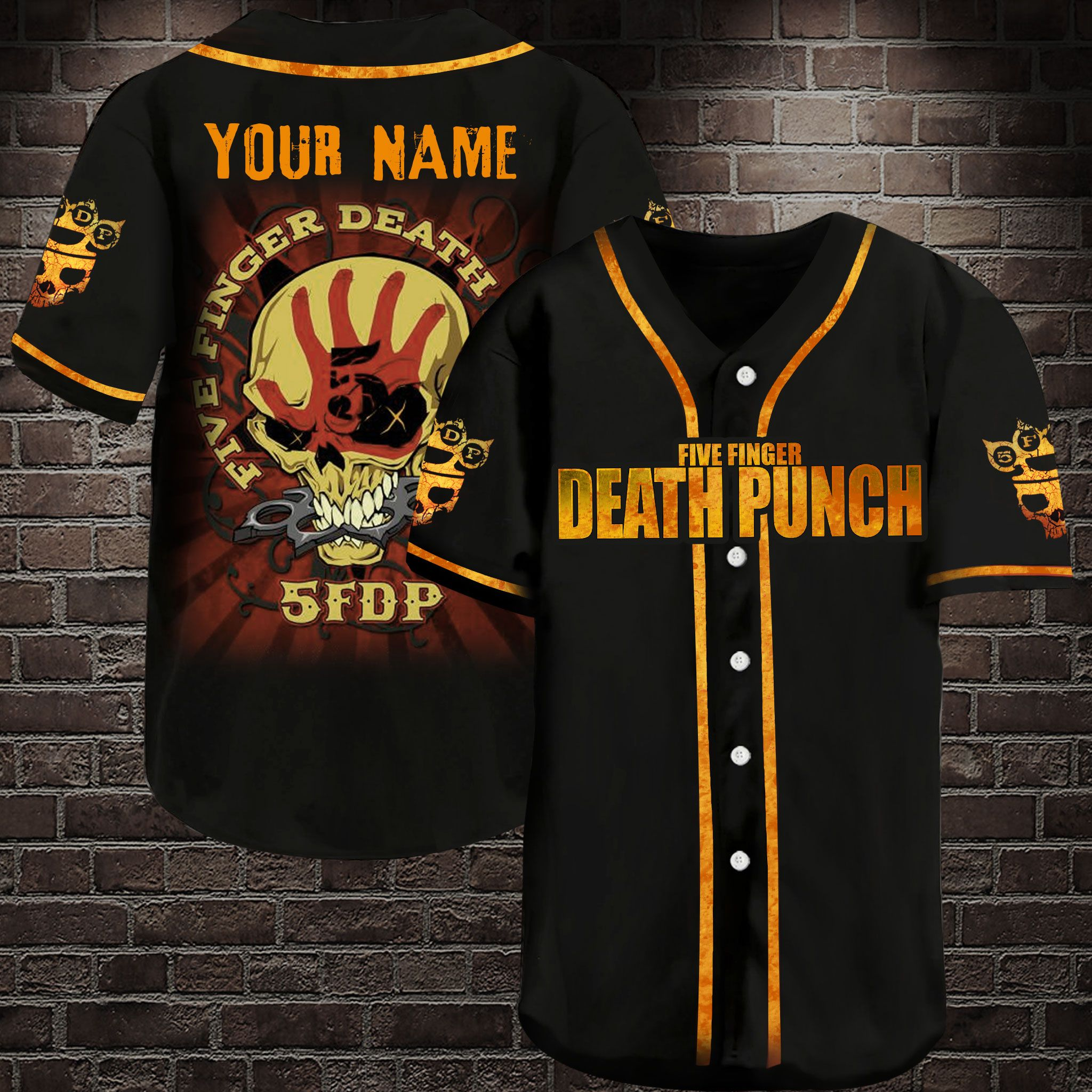 Five finger death punch Personalized Baseball Jersey Shirt