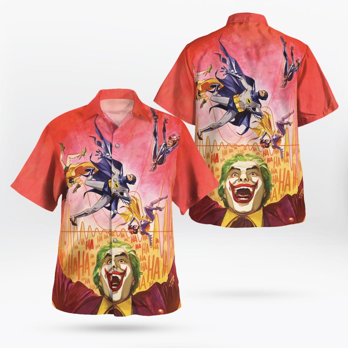 Batman 66 with Joker Hawaiian Shirt