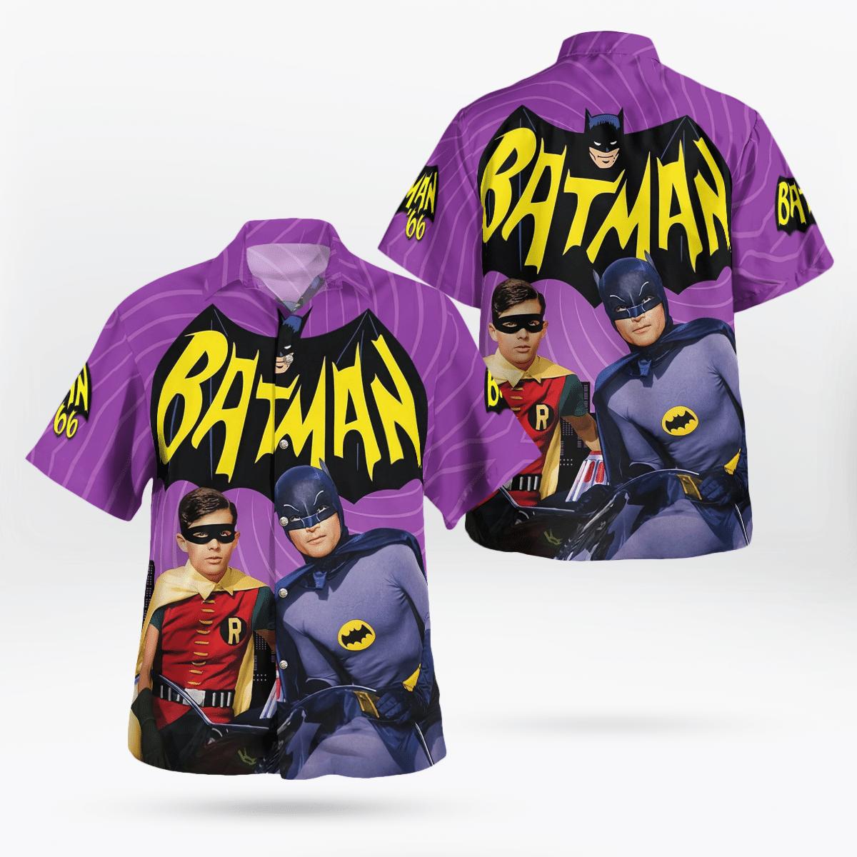 Batman and Robin 66 Hawaiian Shirt