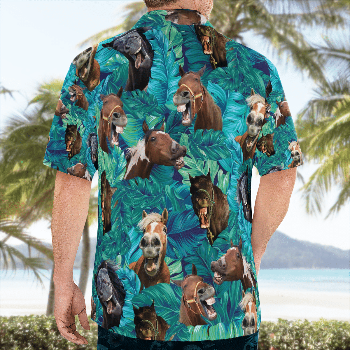 Funny Horse Pattern Hawaiian Shirt
