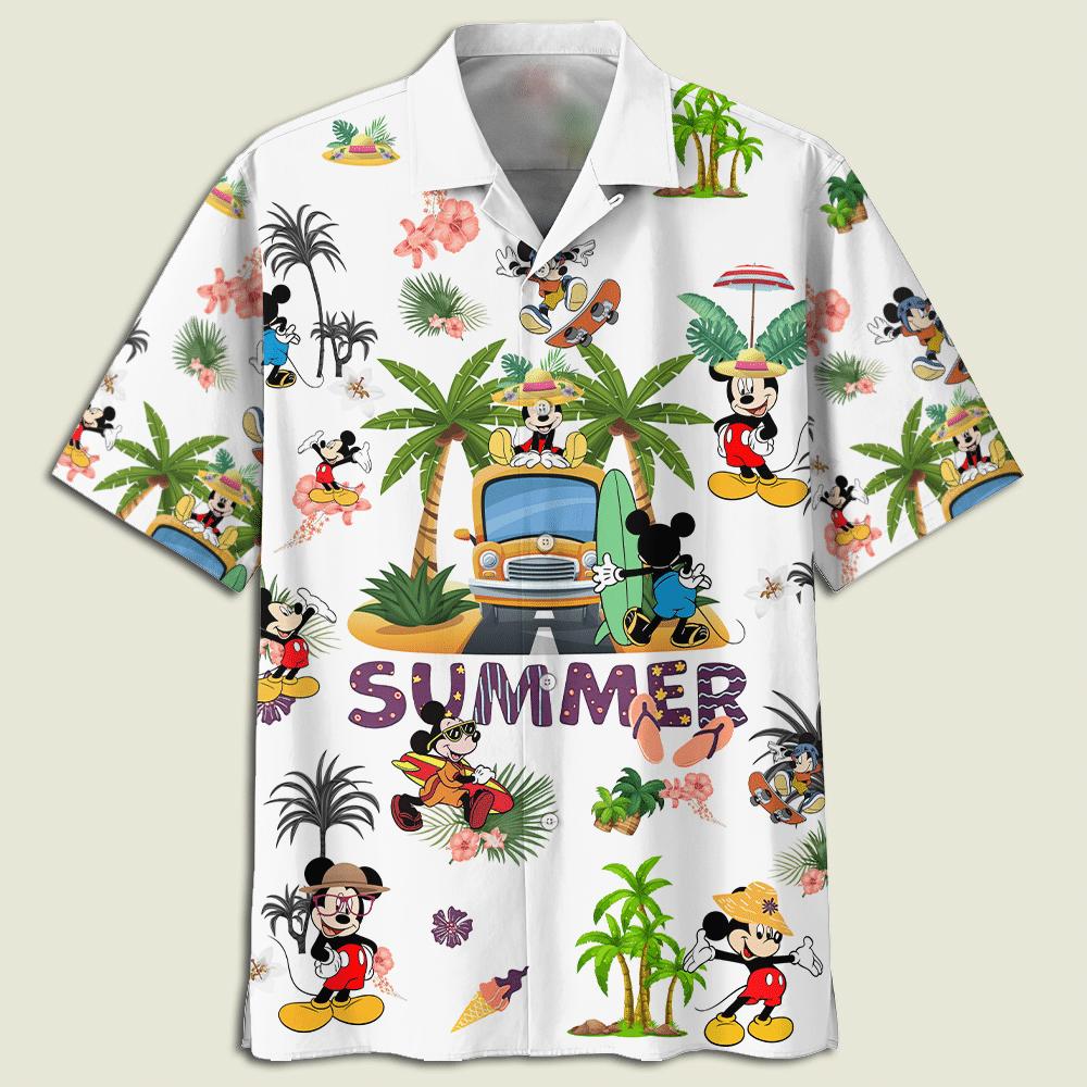 Mickey Mouse Summer time Hawaiian shirt