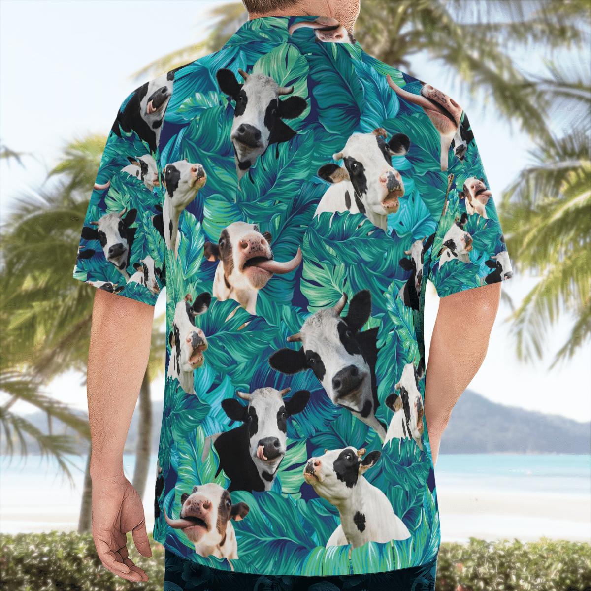Dairy Cow Pattern Hawaiian Beach Shirt