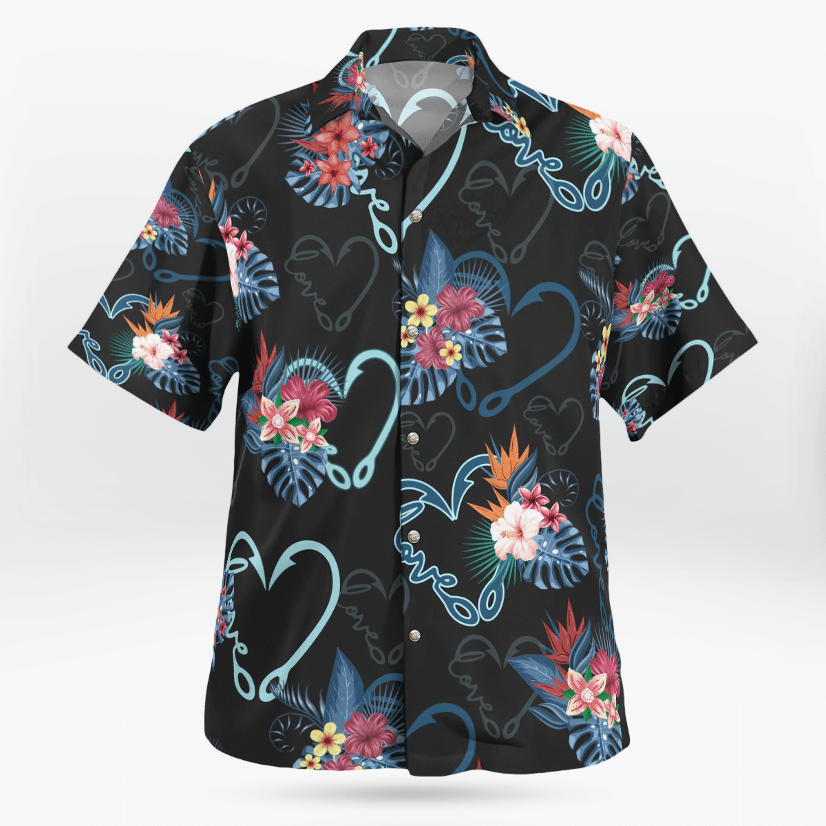 Floral Pattern Hawaiian Beach Shirt
