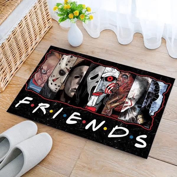 Friends Horror Movies Halloween Characters Doormat