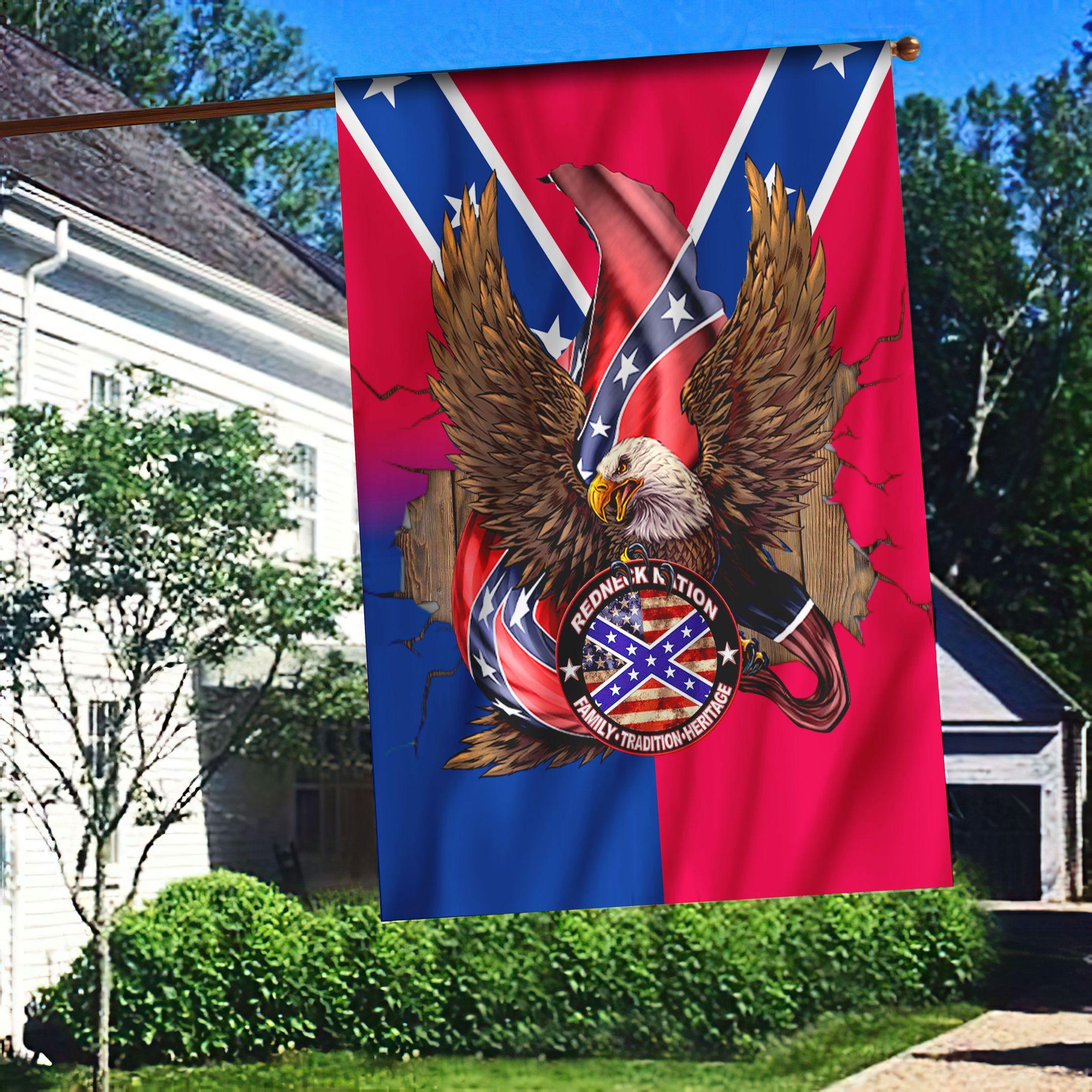 Southern Rebel Eagle Flag