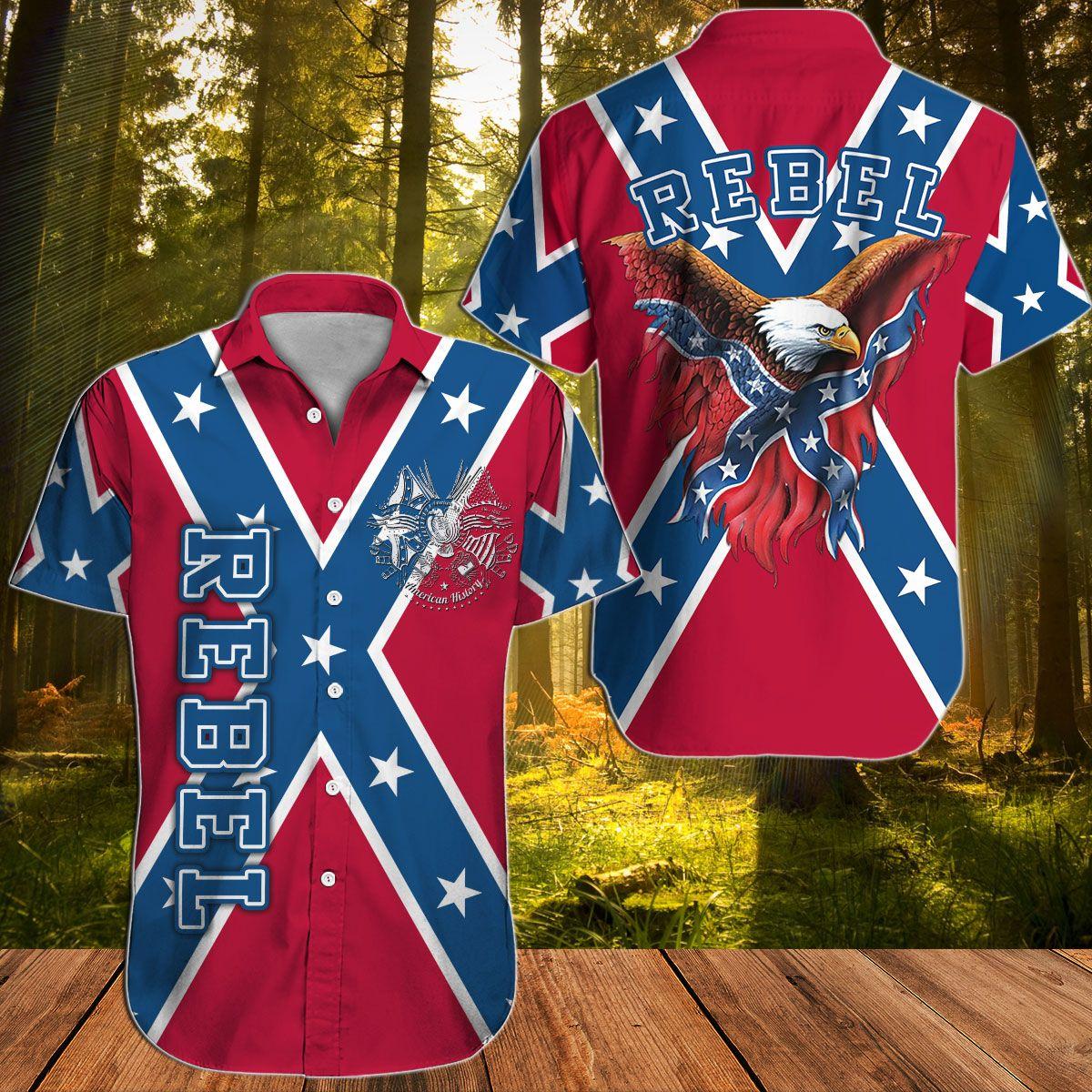 Southern Rebel Confederate Eagle Hawaiian shirt
