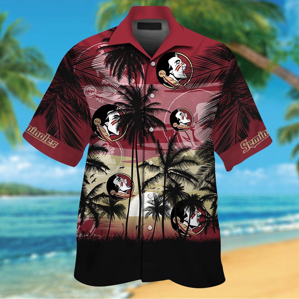 NCAA Florida State Seminoles Tropical Hawaiian Shirt Men Women Shorts