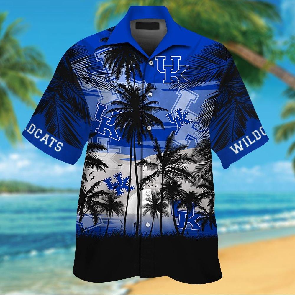 NCAA Kentucky Wildcats Tropical Hawaiian Shirt Men Women Shorts