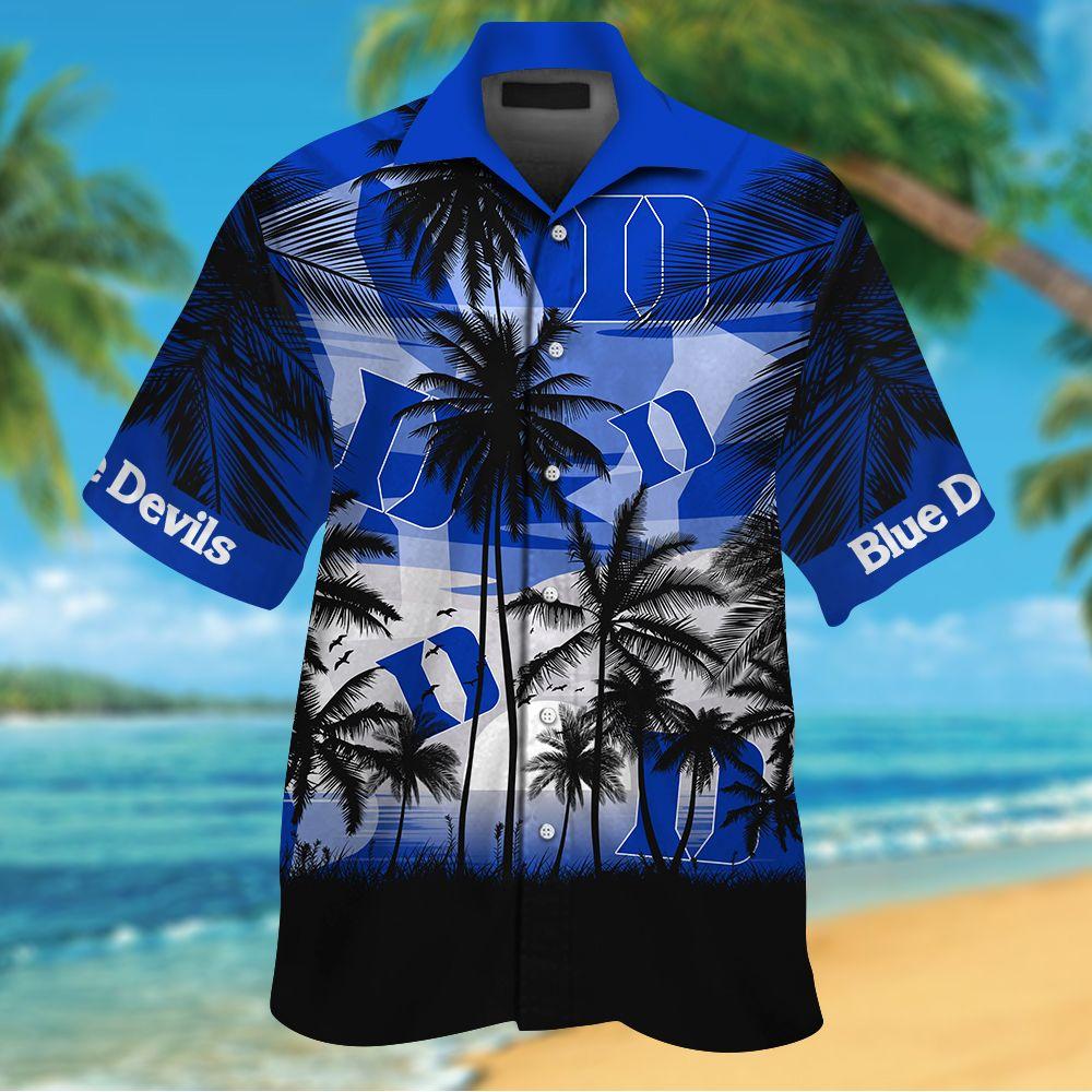 NCAA Duke Blue Devils Tropical Hawaiian Shirt Men Women Shorts