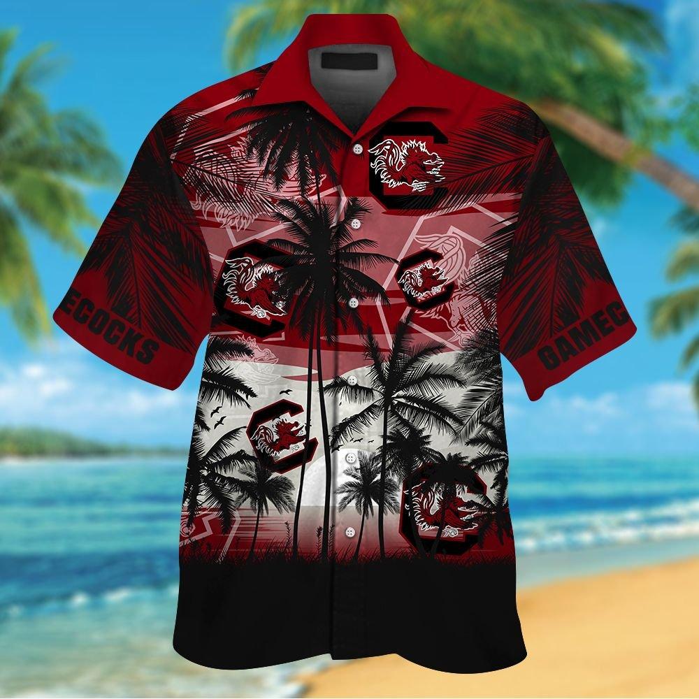 NCAA South Carolina Gamecocks Tropical Hawaiian Shirt Men Women Shorts