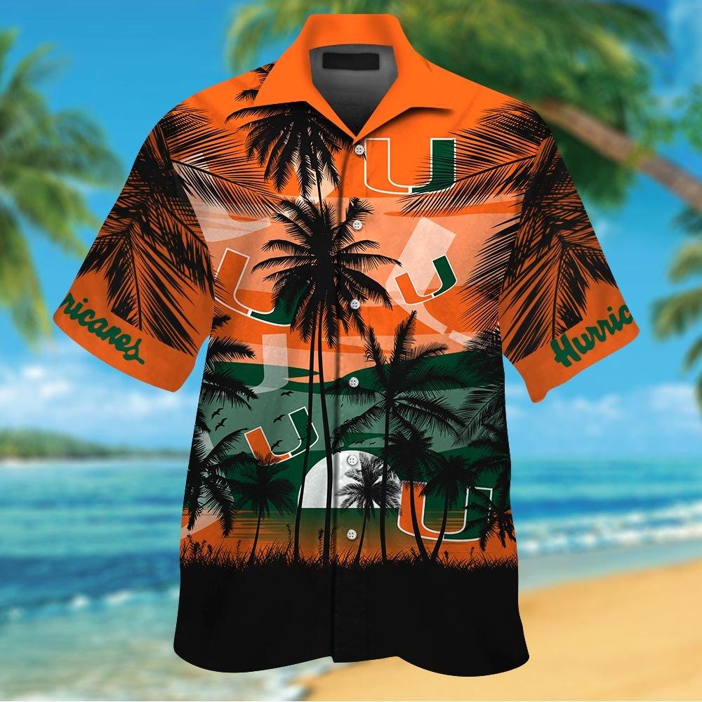 NCAA Miami Hurricanes Tropical Hawaiian Shirt Men Women Shorts