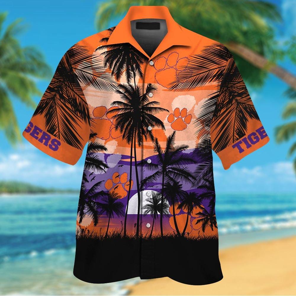 NCAA Clemson Tigers Tropical Hawaiian Shirt Men Women Shorts