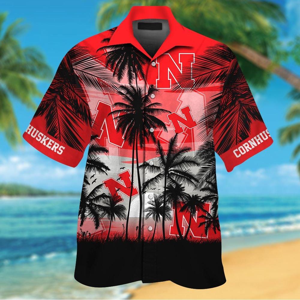 NCAA Nebraska Cornhuskers Tropical Hawaiian Shirt Men Women Shorts