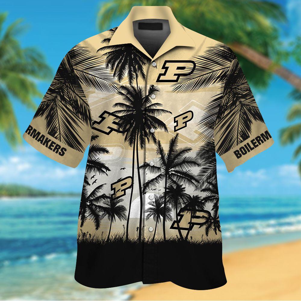 NCAA Purdue Boilermakers Tropical Hawaiian Shirt Men Women Shorts