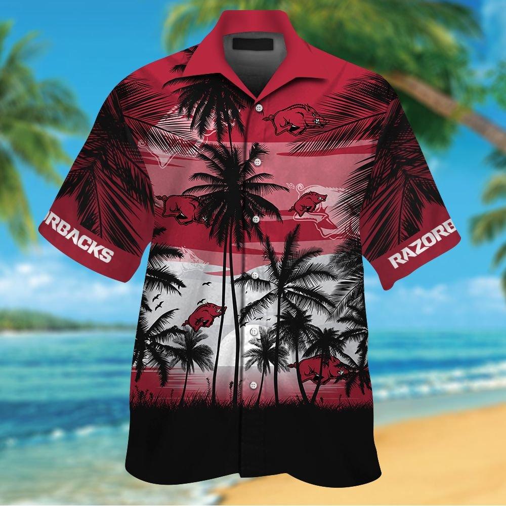 NCAA Arkansas Razorbacks Tropical Hawaiian Shirt Men Women Shorts