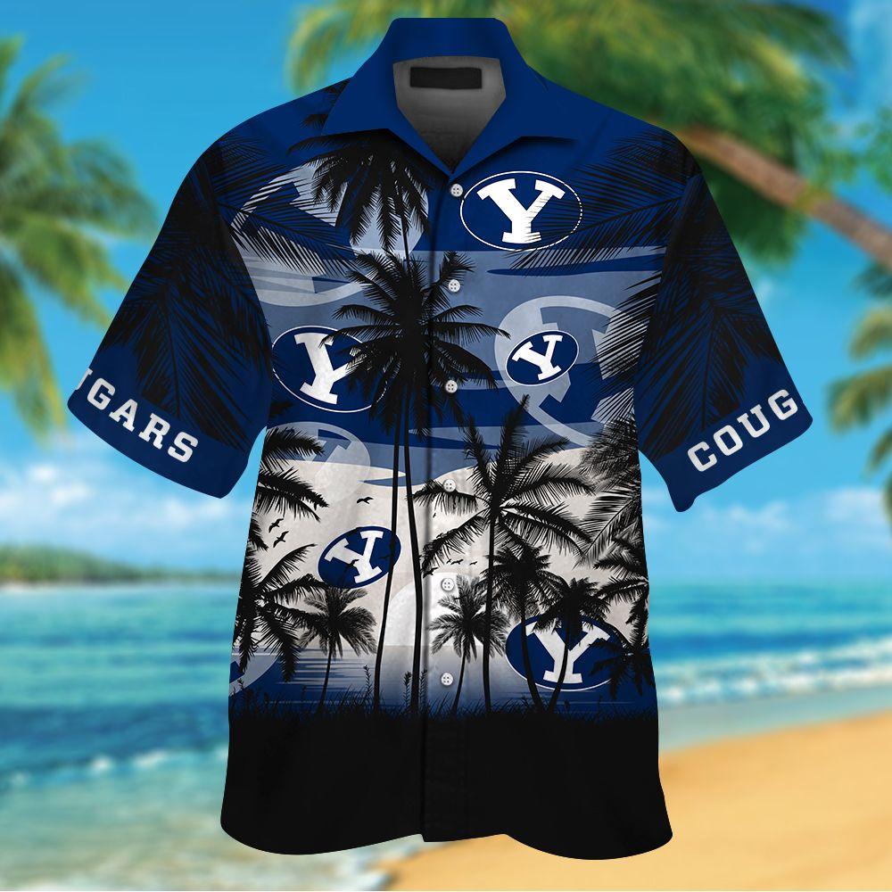 NCAA BYU Cougars Tropical Hawaiian Shirt Men Women Shorts