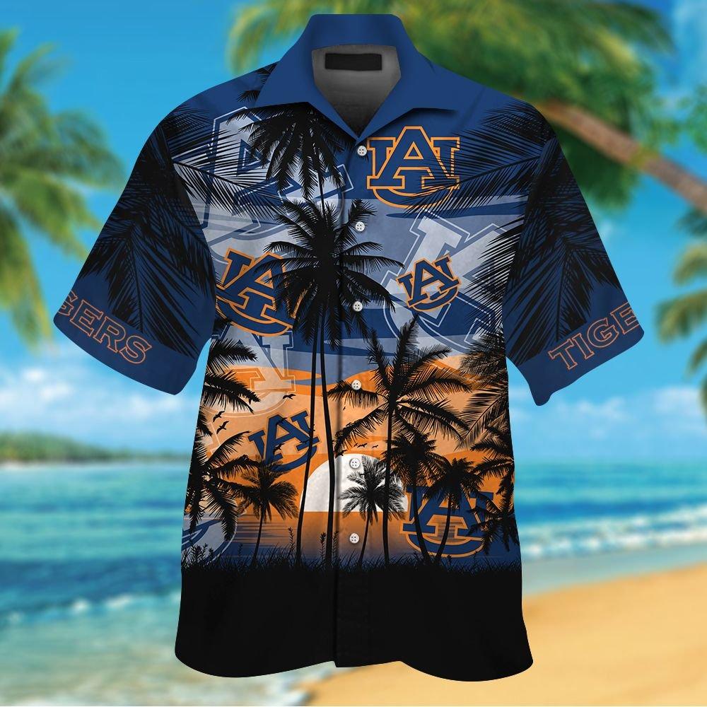 NCAA Auburn Tigers Tropical Hawaiian Shirt Men Women Shorts