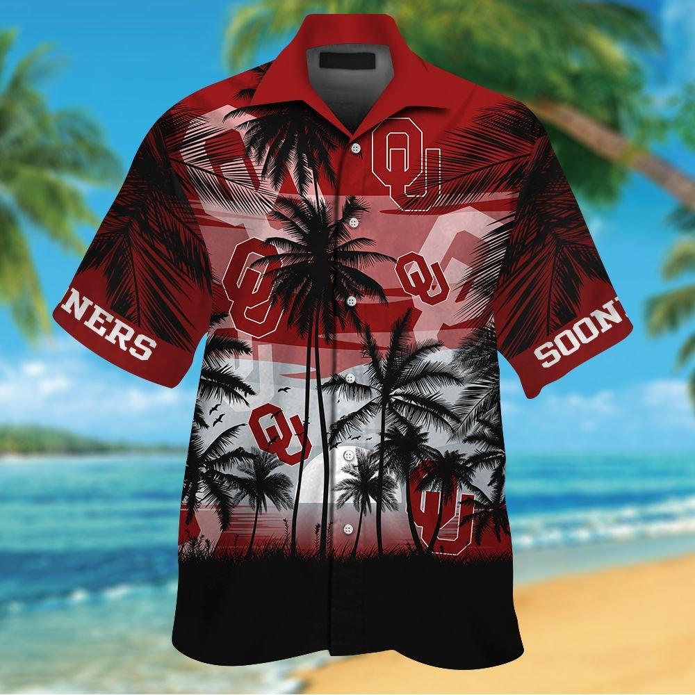 NCAA Oklahoma Sooners Tropical Hawaiian Shirt Men Women Shorts