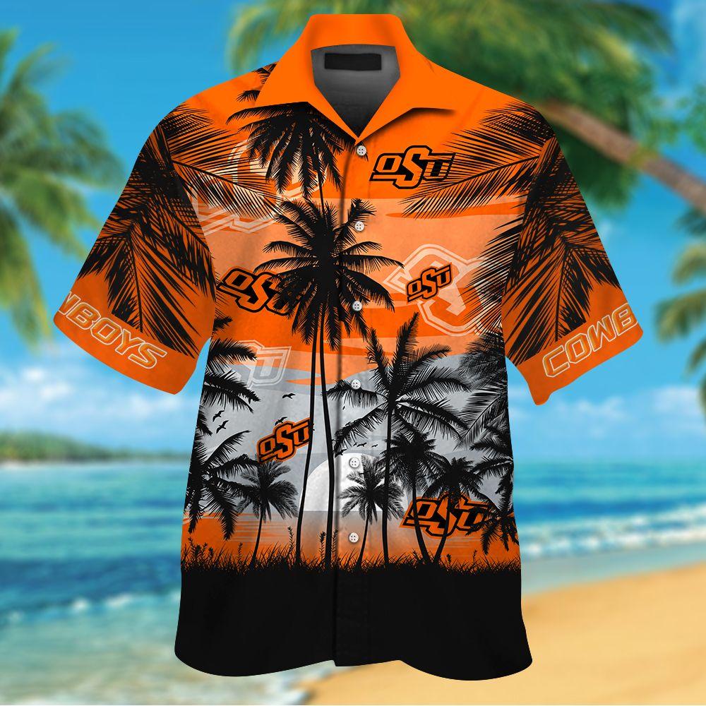 NCAA Oklahoma State Cowboys Tropical Hawaiian Shirt Men Women Shorts
