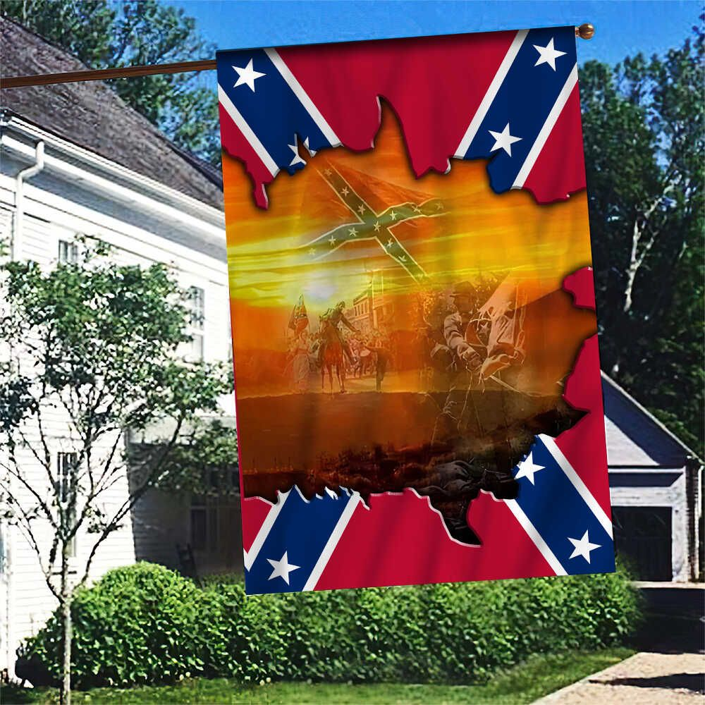 Southern Rebel Image in past Flag