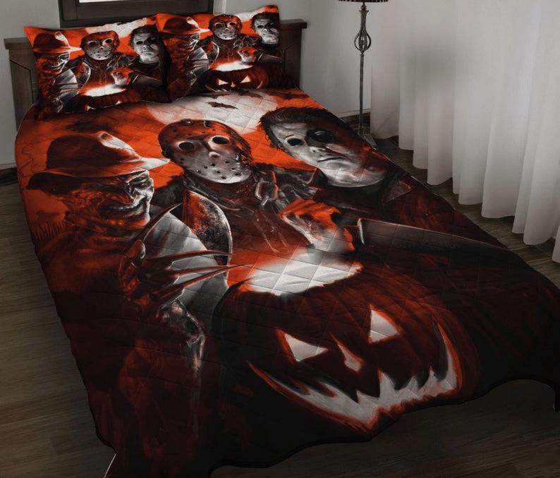 Halloween Murderer Horror Movie Quilt Bedding Set