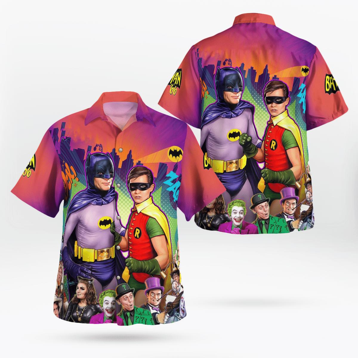 Batman Robin Animation Hawaiian Shirt