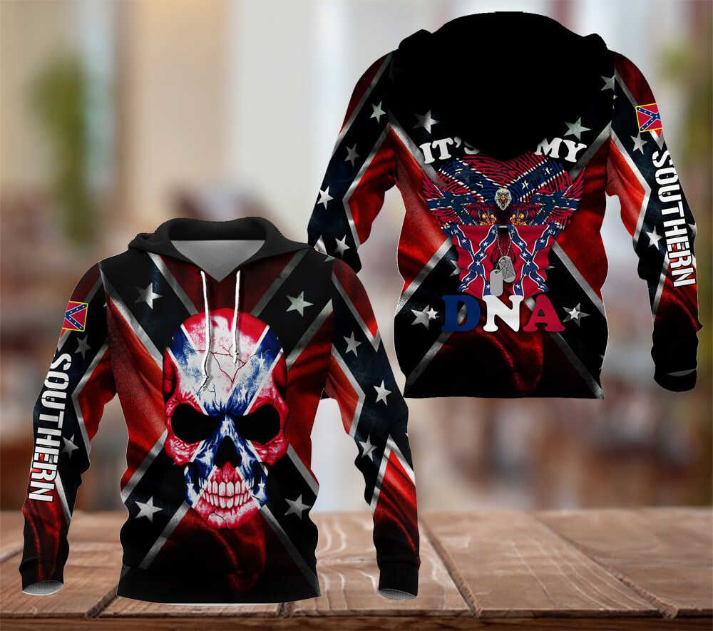 Southern Rebel it is my DNA hoodie 3D
