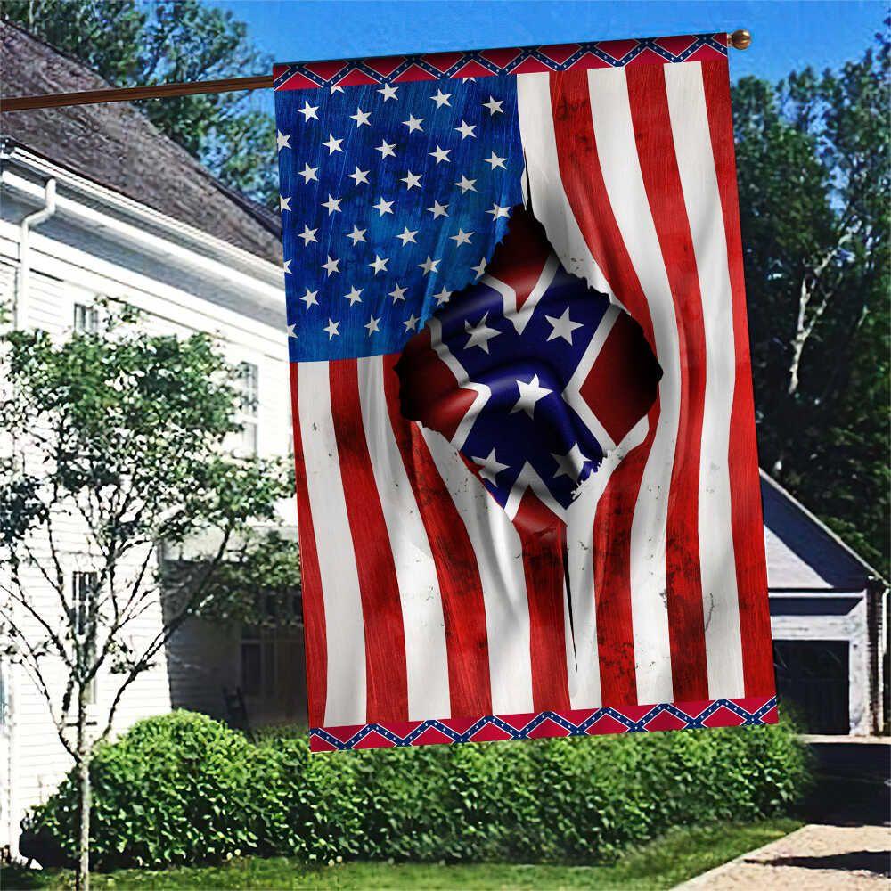 Southern Rebel Flag Inside