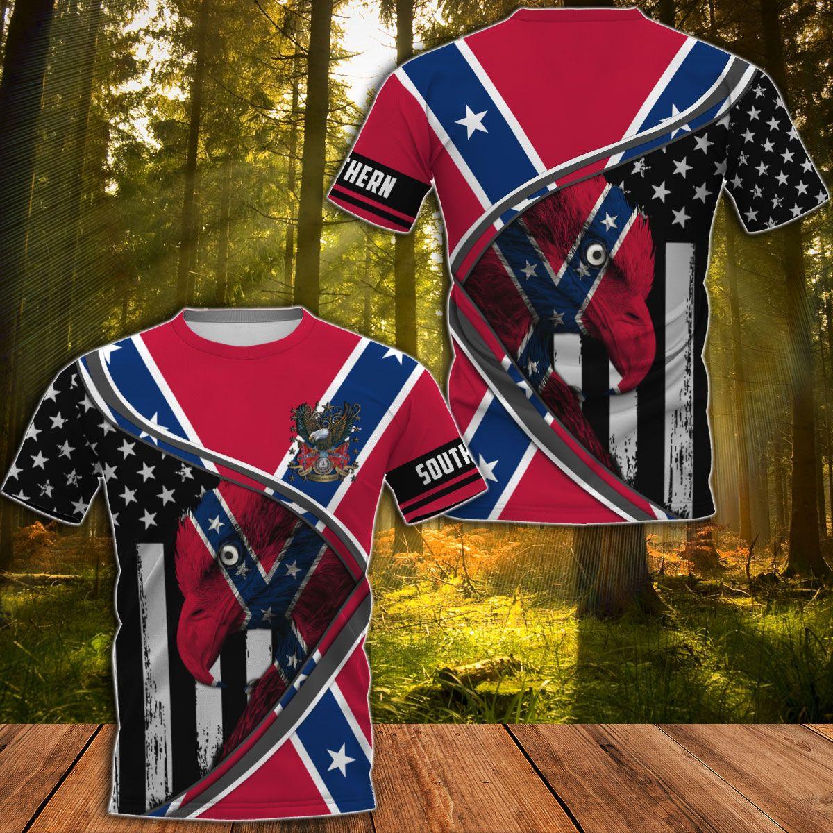 Southern Rebel Eagle Symbol Hawaiian shirt