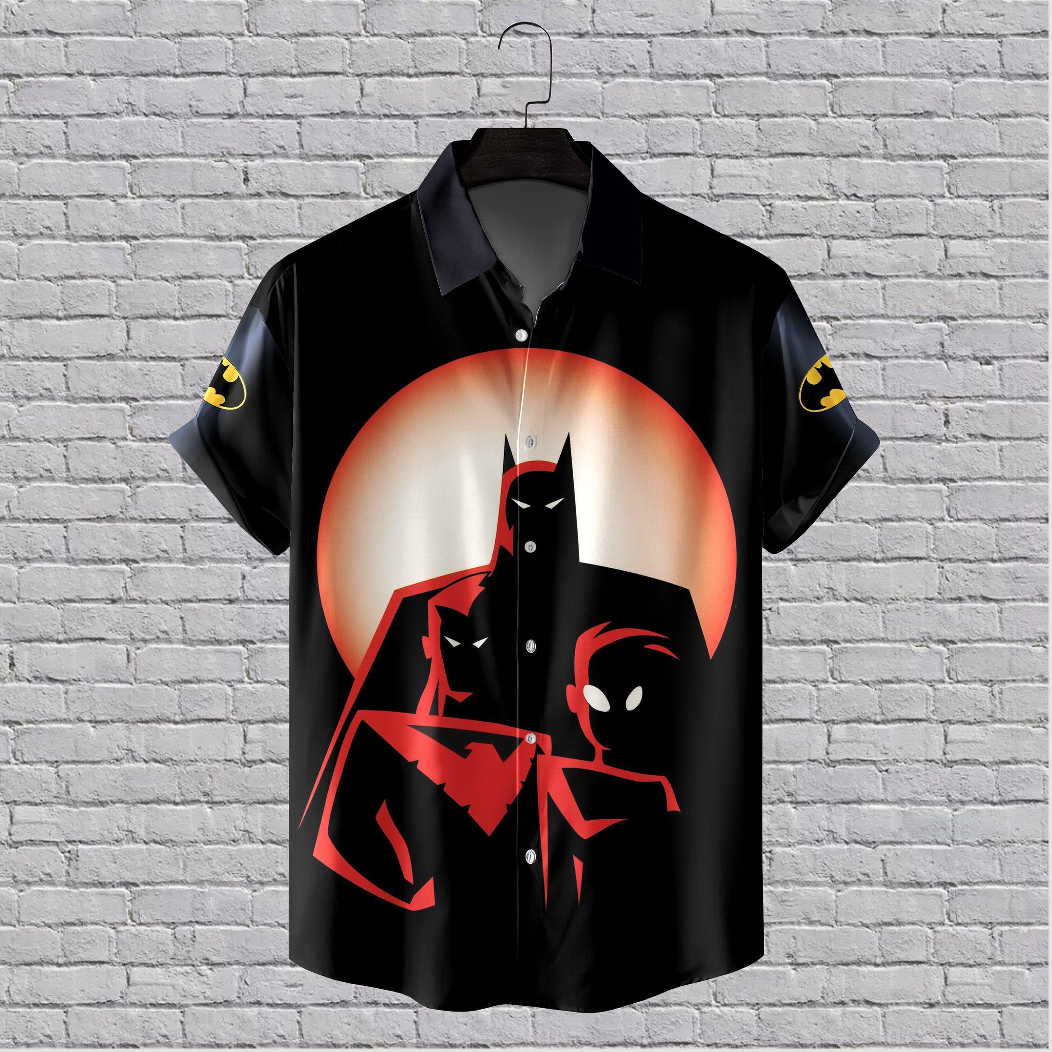 Batman Midnight Animated Hawaiian Shirt