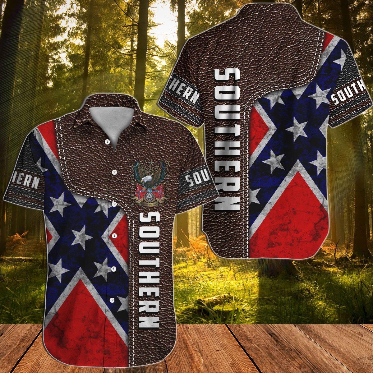 Southern Rebel Confederate Hawaiian shirt