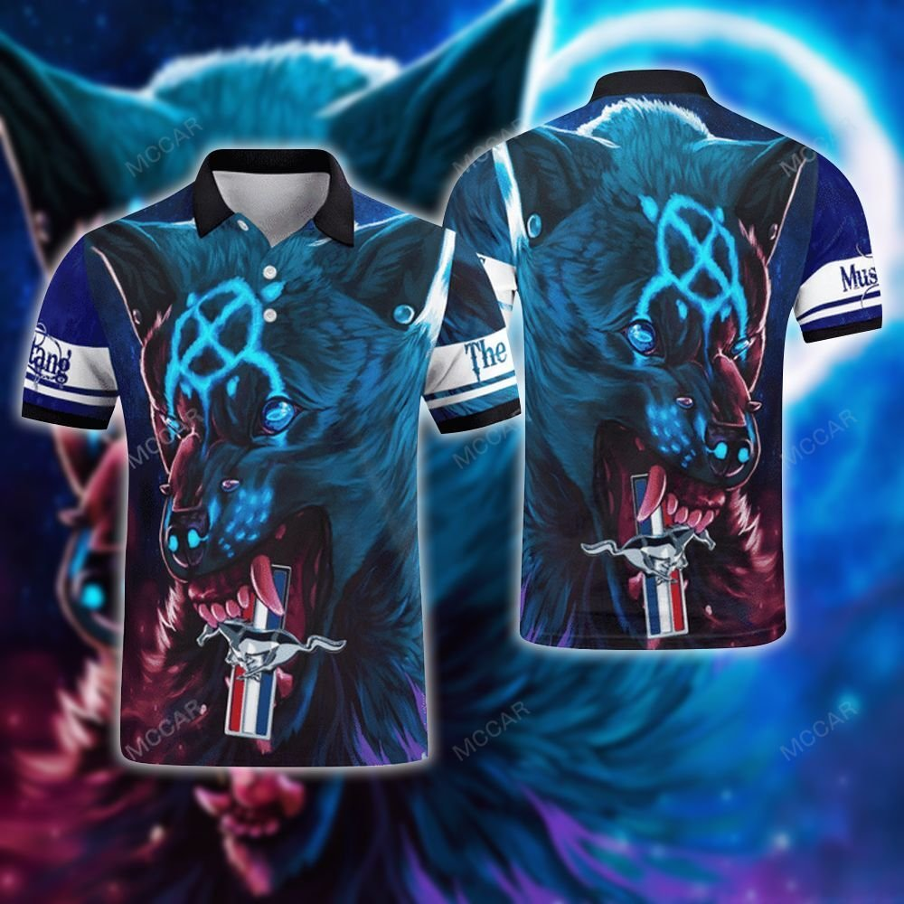 Mustang mystery wolf Polo Shirt
