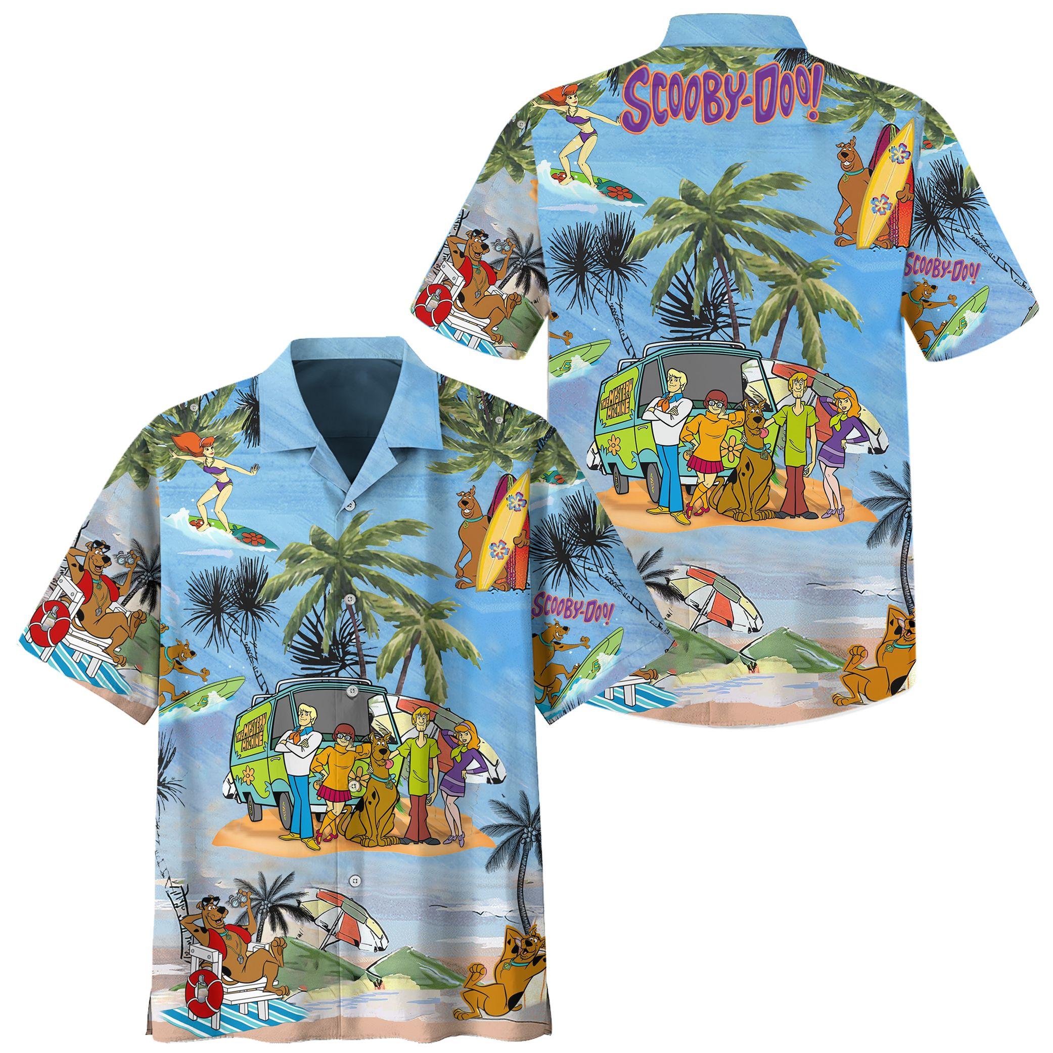 Scooby Doo Summer Beach HAWAIIAN SHIRT
