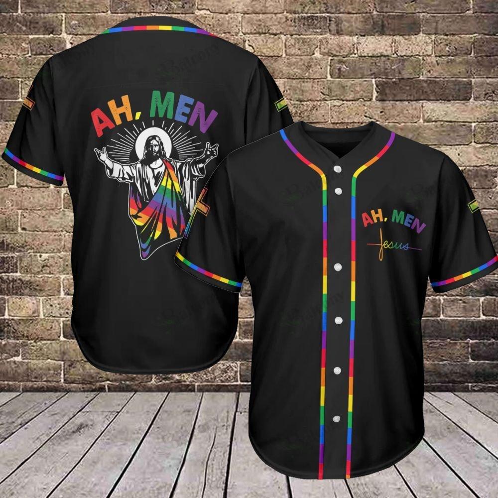 LGBT Ah Men Baseball Jersey shirt