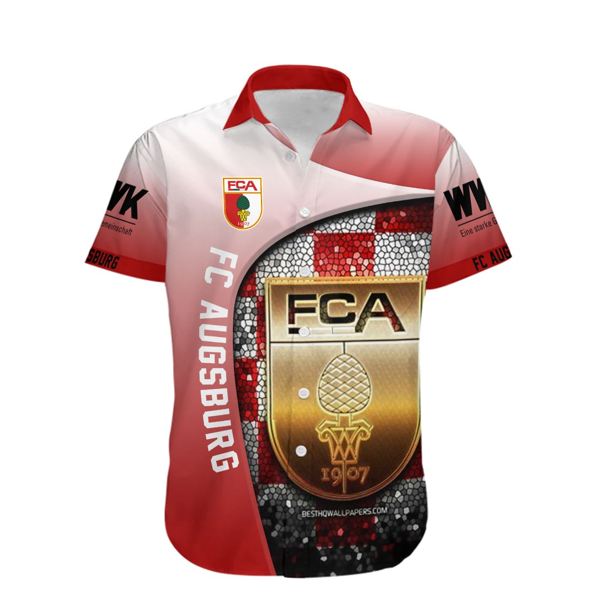 FC Augsburg Hawaiian Shirt