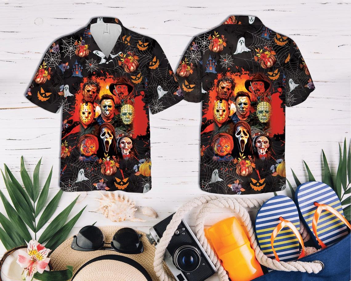 Horror Squad Characters Hawaiian Shirt
