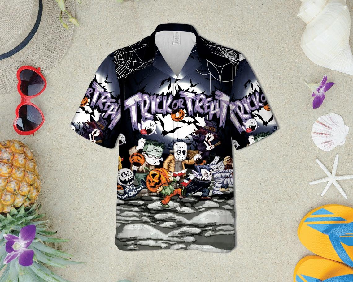 Chibi Halloween Trick or Treat Hawaiian Shirt