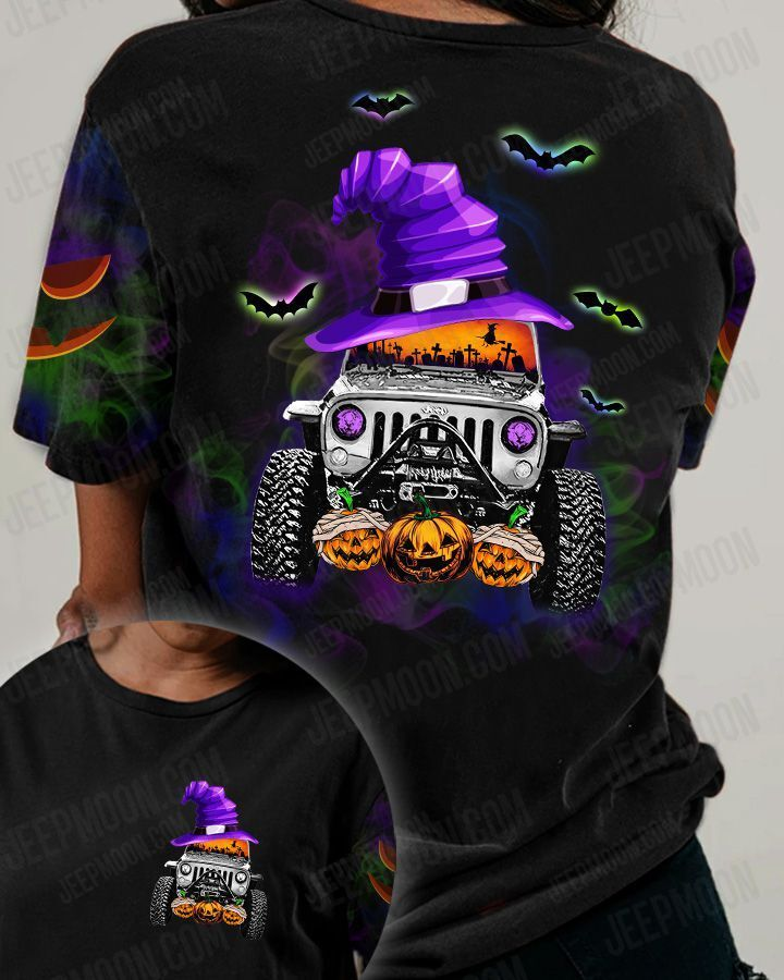 Pointed Hat Jeep and pumpkin Halloween shirt