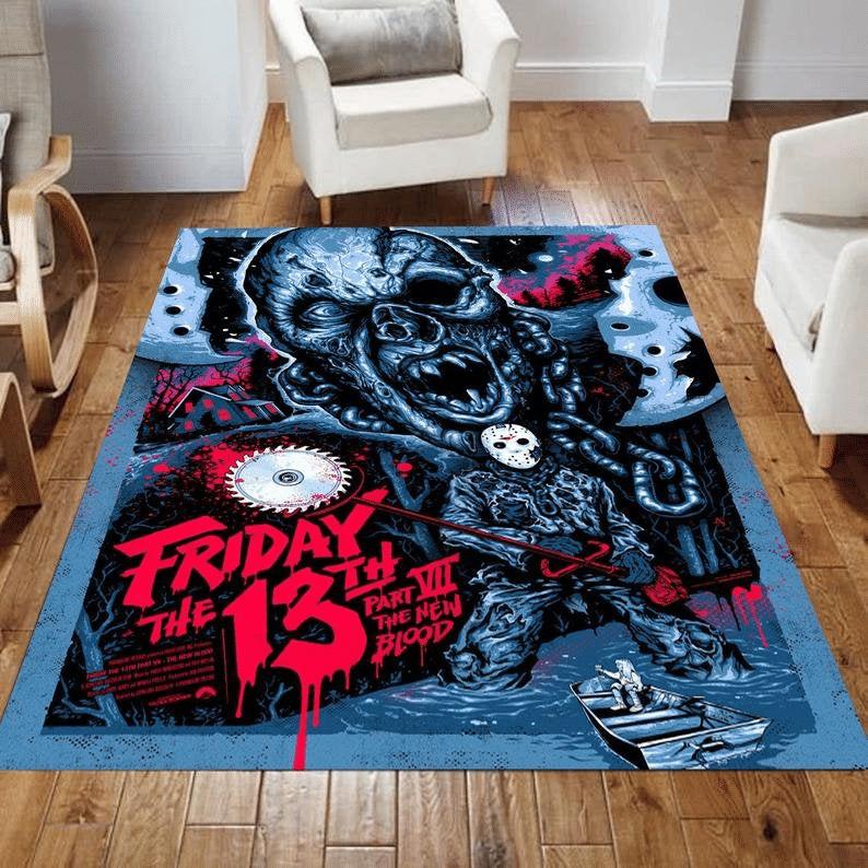 Horror Movie Legends Friday 13th Saw Machine Carpet Rug
