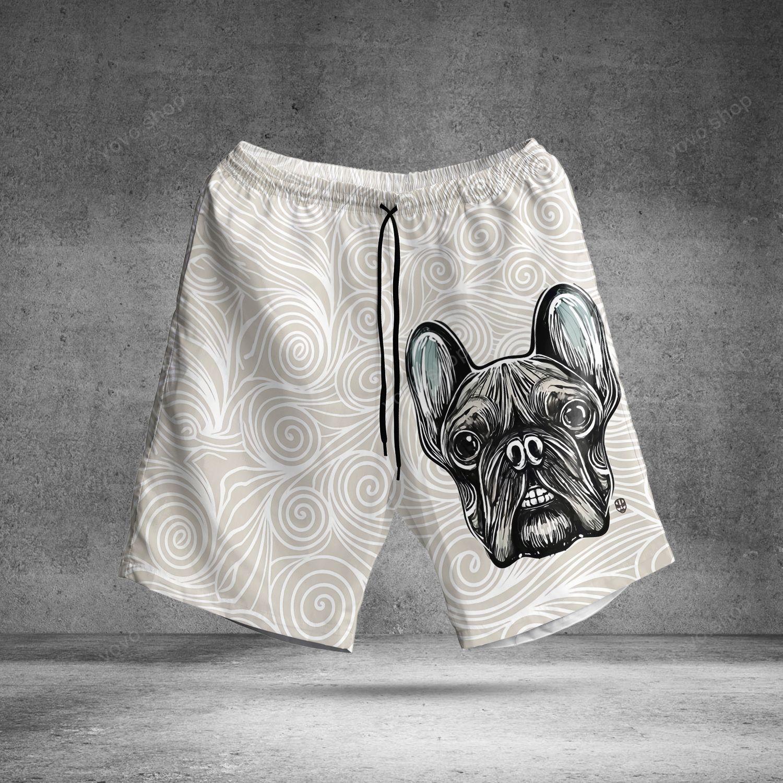 French Bulldog Hawaiian Summer Shorts