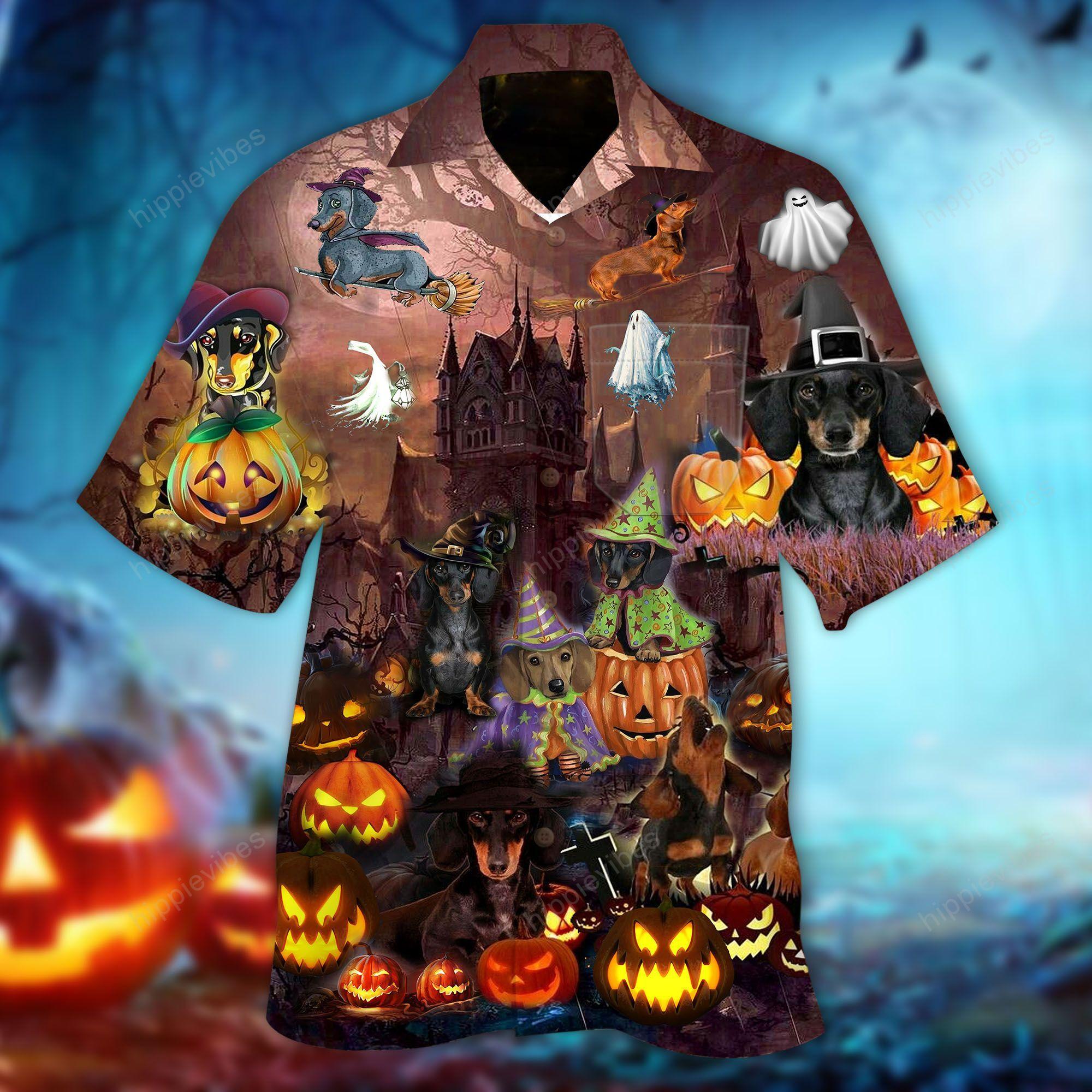 Amazing Dachshund Halloween Hawaiian Shirt