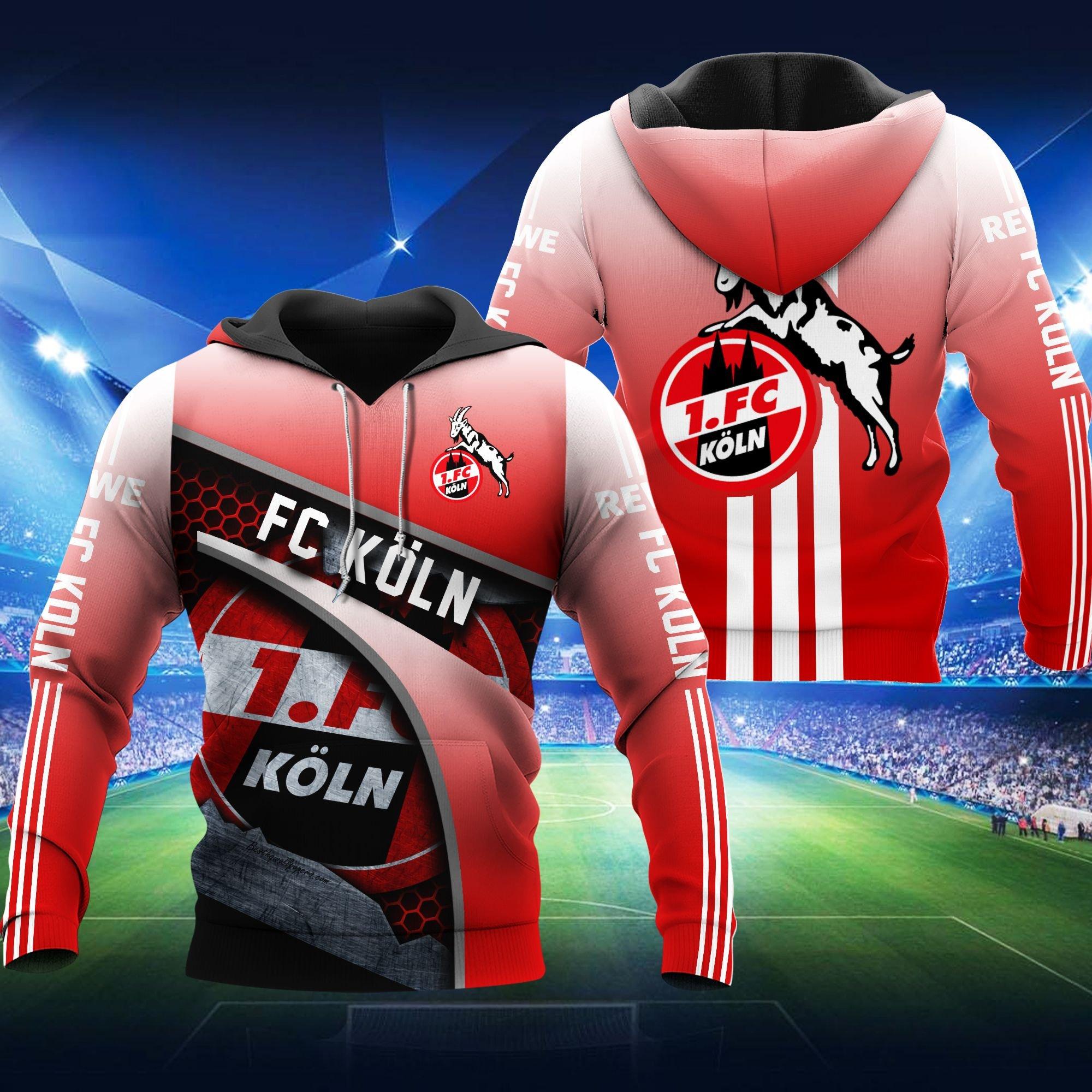 FC Koln Die GeiBbocke Red Hoodie 3D