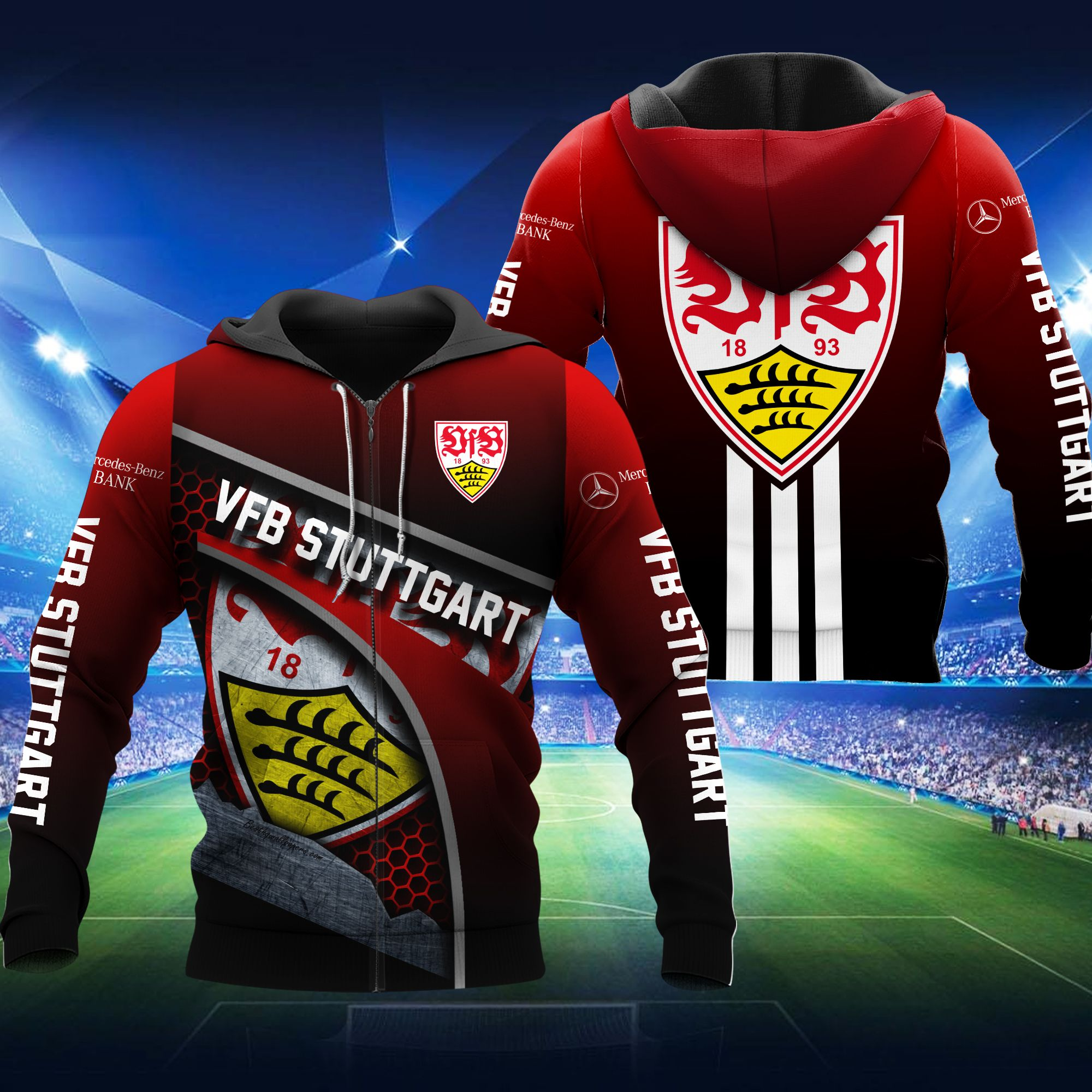 VFB Stuttgart Football 3D hoodie