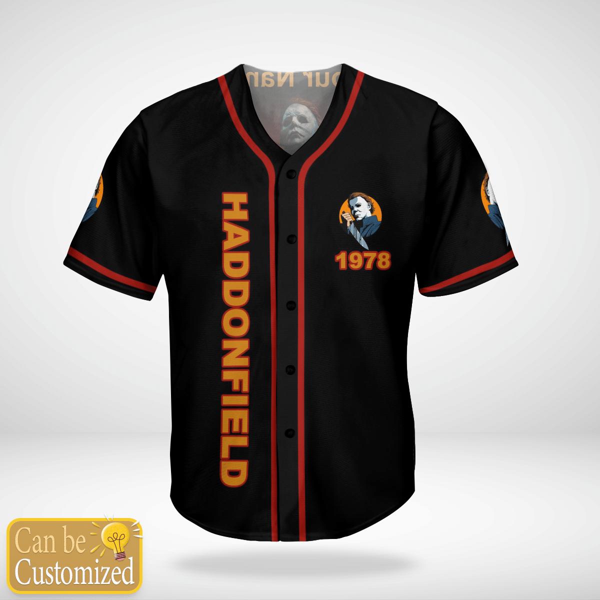 Personalized Haddonfield 1978 Halloween murder baseball Jersey Shirt