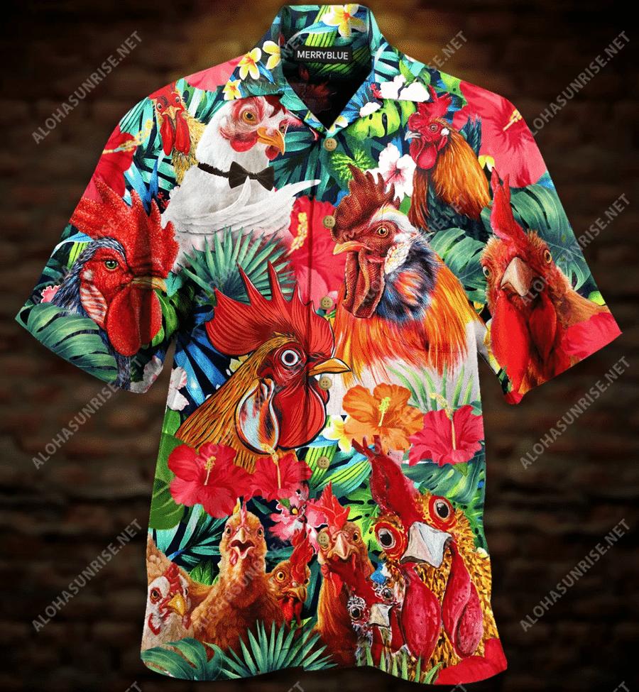 Aloha Funny Chicken Hawaiian Shirt