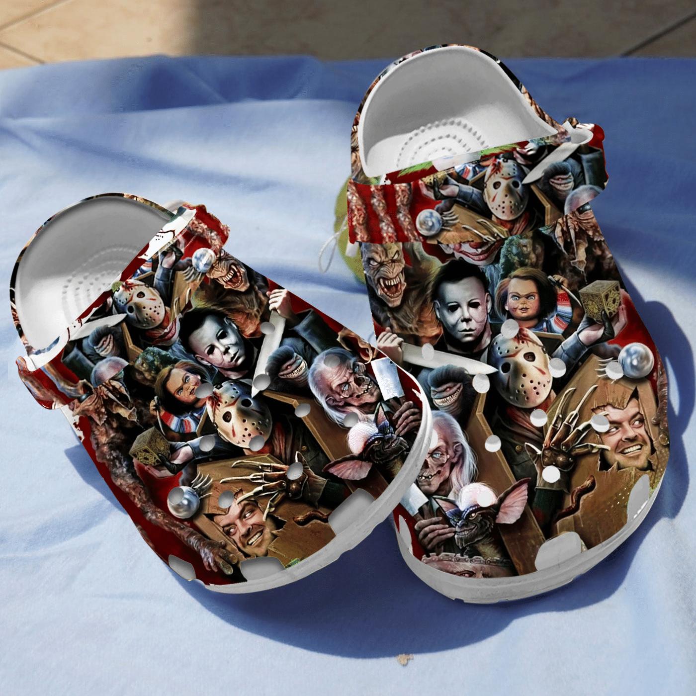 Halloween Horror Murderer Halloween Crocs Clog Shoes