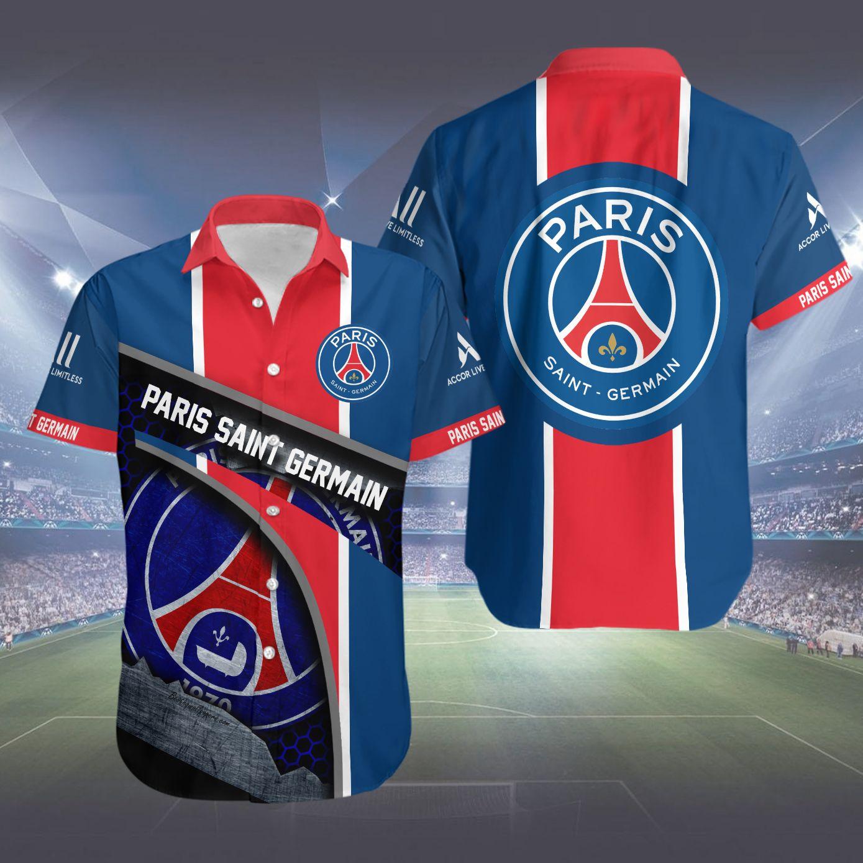 Paris Saint Germain Hawaiian Shirt Summer Shirt