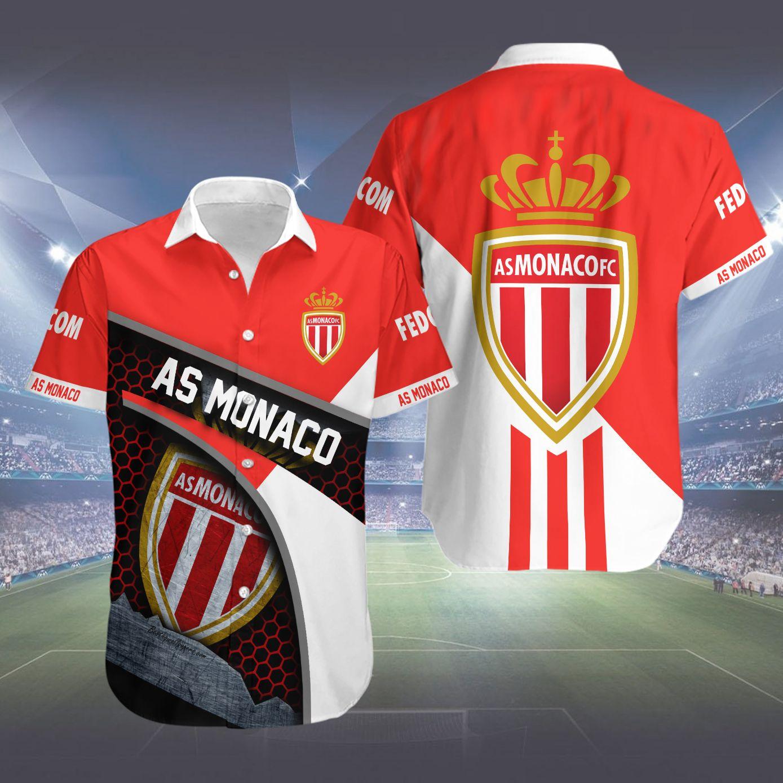 AS Monaco FC Hawaiian Shirt Summer Shirt